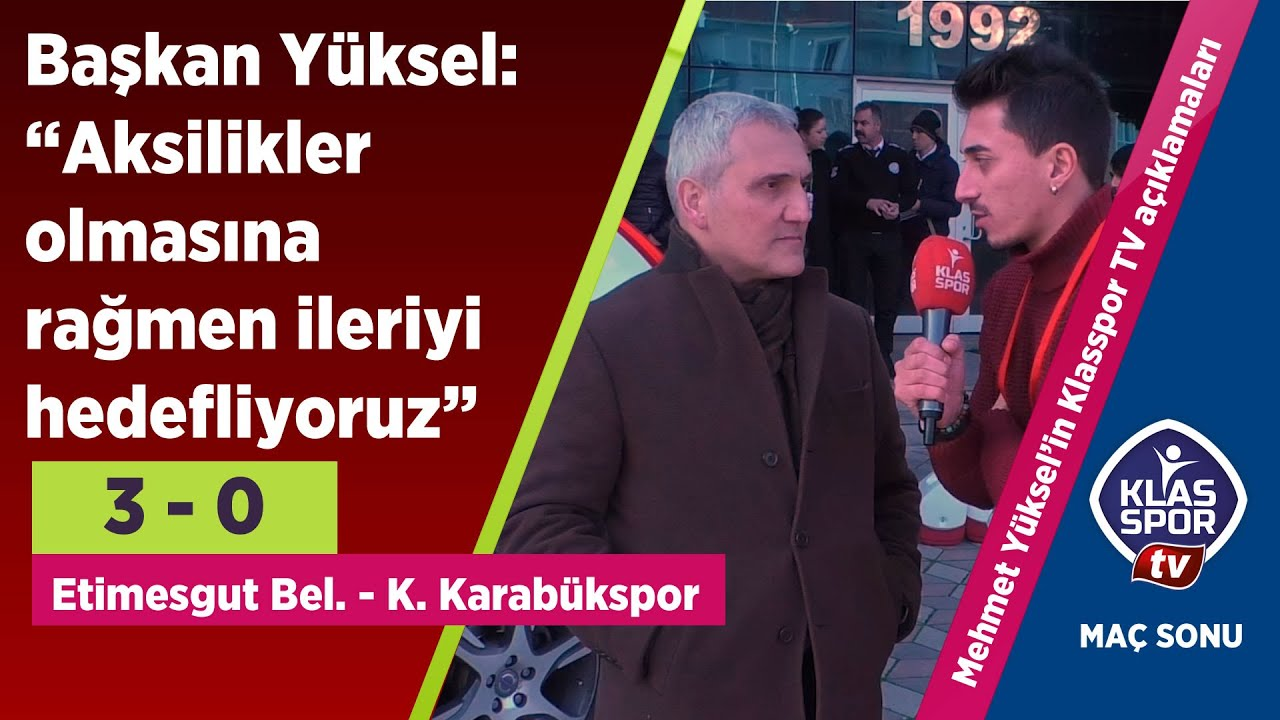 Etimegut Belediyespor maçı sonrasında Başkan Mehmet Yüksel önemli açıklamalarda bulundu