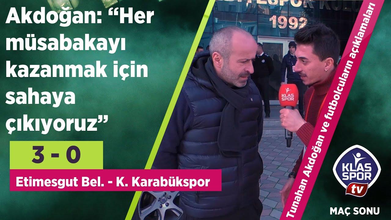 Etimesgut Belediyespor 3 - 0'lık skorla geçti (Maç sonu açıklamalar)