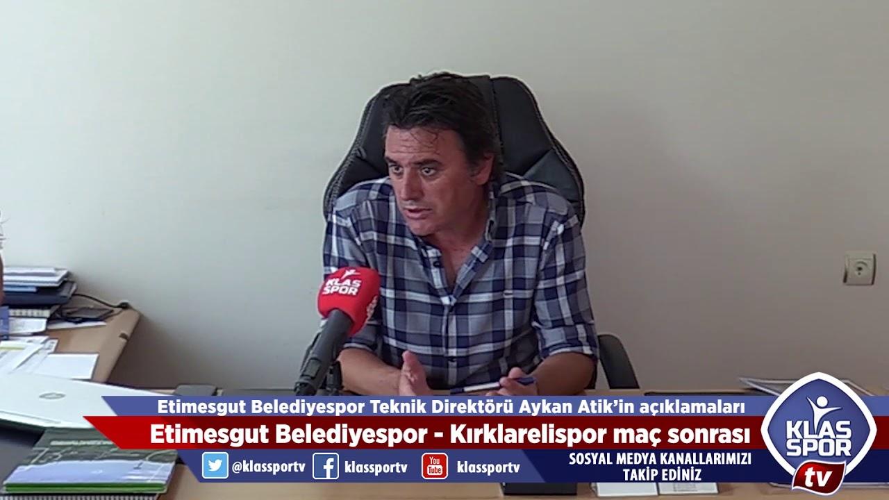 Etimesgut Belediyespor - Kırklarelispor maçı sonrası Aykan Atik'in açıklamaları