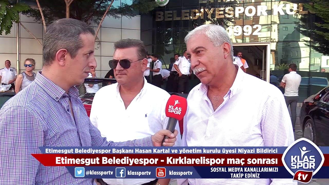 Etimesgut Belediyespor - Kırklarelispor maçı sonrası Kartal ve Bildirici'nin açıklamaları