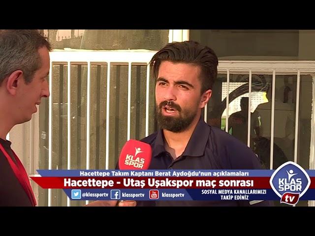 Hacettepe - Utaş Uşakspor sonrası Berat Aydoğdu'nun açıklamaları