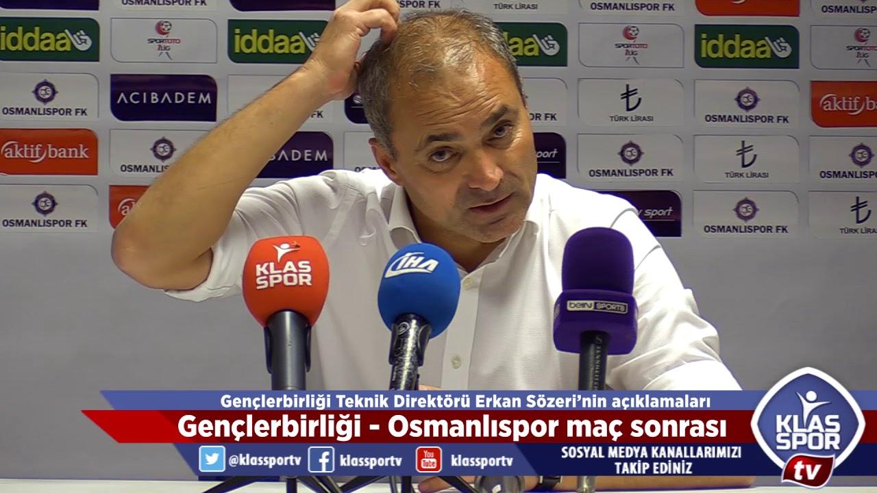Osmanlıspor - Gençlerbirliği maçı sonrası teknik direktörler